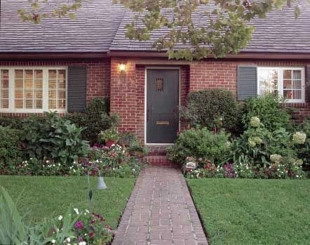 Exterior paint colors with red brick 12