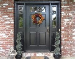 Exterior paint colors with red brick 18