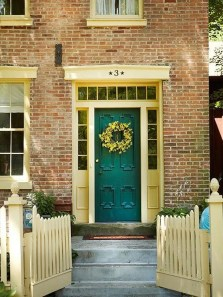 Exterior paint colors with red brick 32