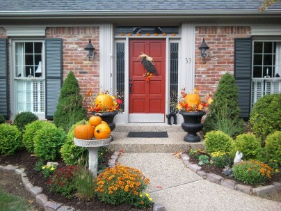 Exterior paint colors with red brick 34