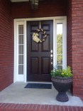 Exterior paint colors with red brick 43