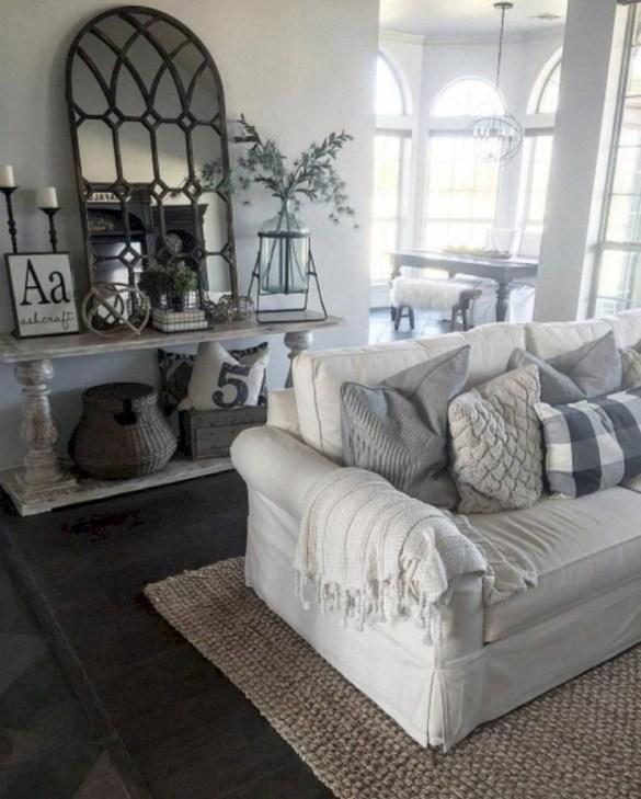 Incredible european farmhouse living room design ideas 27