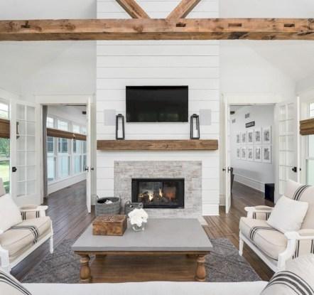 Incredible european farmhouse living room design ideas 50