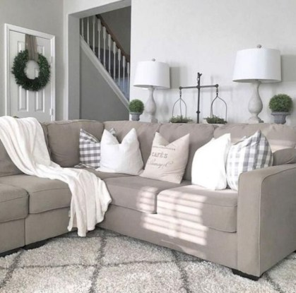 Incredible european farmhouse living room design ideas 69