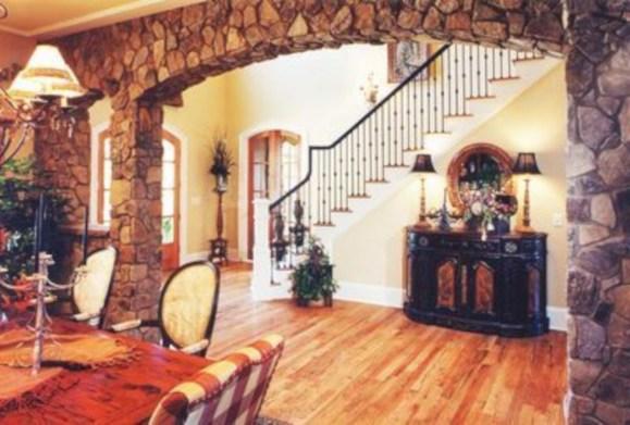 Incredible european farmhouse living room design ideas 74