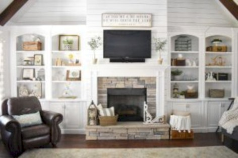 Rustic farmhouse living room decor ideas 14