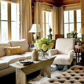 Rustic farmhouse living room decor ideas 19