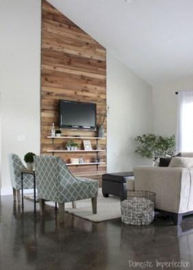 Rustic farmhouse living room decor ideas 29