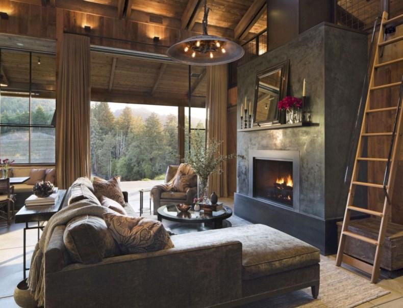 Rustic farmhouse living room decor ideas 39