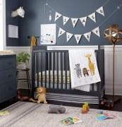 Unique baby boy nursery room with animal design 01