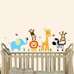 Unique baby boy nursery room with animal design 04
