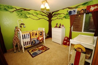 Unique baby boy nursery room with animal design 05