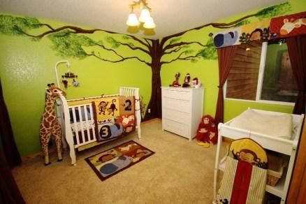 Unique baby boy nursery room with animal design 05