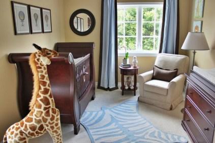 Unique baby boy nursery room with animal design 10
