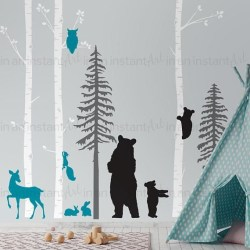 Unique baby boy nursery room with animal design 13