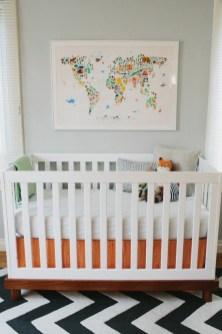 Unique baby boy nursery room with animal design 34