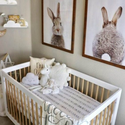 Unique baby boy nursery room with animal design 49