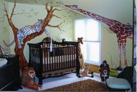 Unique baby boy nursery room with animal design 50