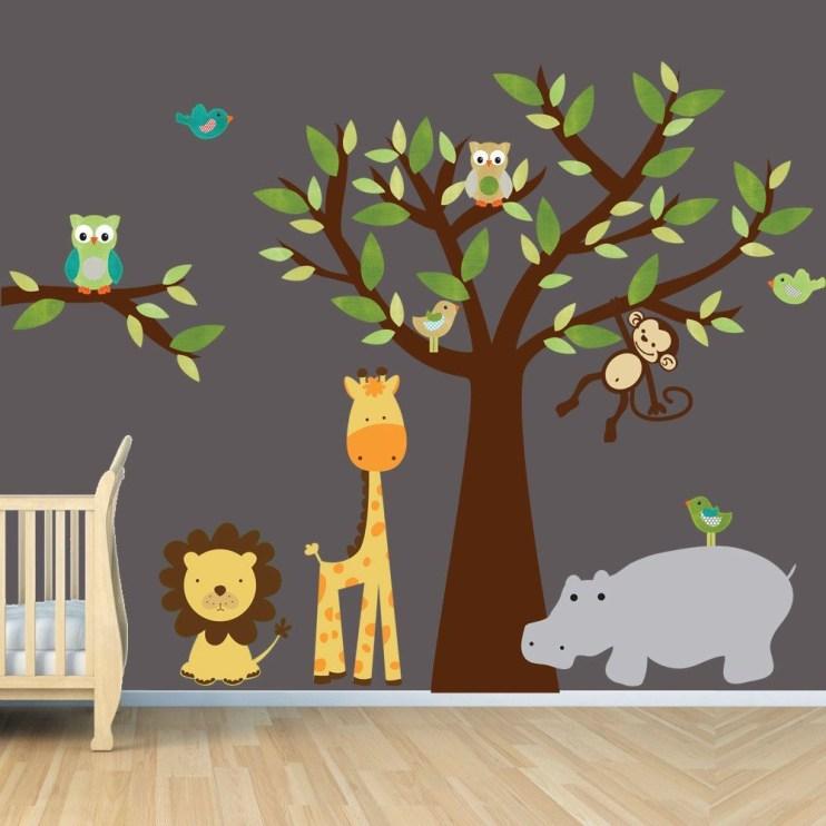 Unique baby boy nursery room with animal design 57