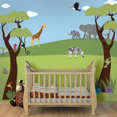Unique baby boy nursery room with animal design 58