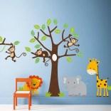 Unique baby boy nursery room with animal design 63