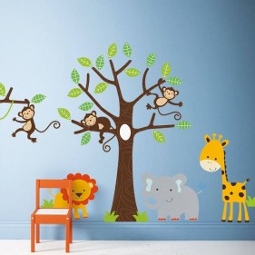 Unique baby boy nursery room with animal design 63