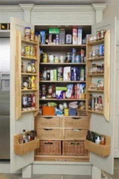 Kitchen pantry ideas with form and function 12