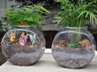 Simple ideas for adorable terrariums 48