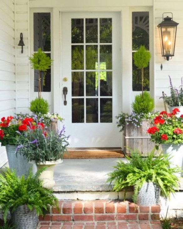 Spring decor ideas for your front porch 34