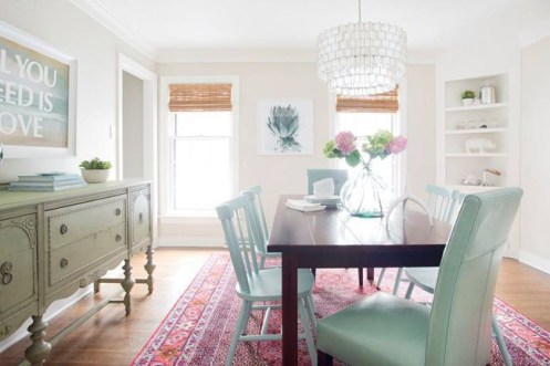 Stunning ways to re-decorate your dining room 03