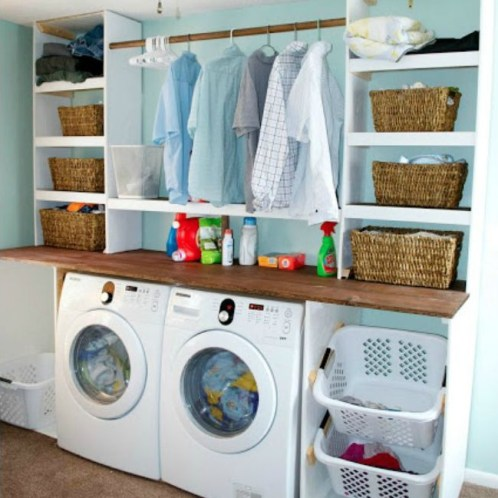 Beautiful and functional laundry room design ideas to try 07