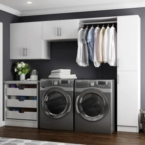 Beautiful and functional laundry room design ideas to try 45