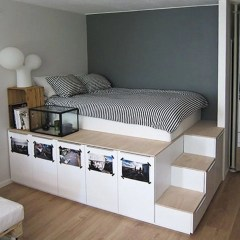 Cizy loft bedroom design ideas for small space 08