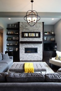 Beautiful fireplace decorating ideas to copy for your own 38