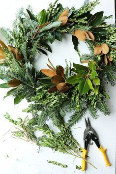 On a budget diy christmas wreath to deck out your door 24