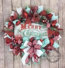 On a budget diy christmas wreath to deck out your door 39