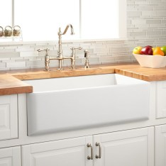 Top farmhouse sink designs for your lovable kitchen 18
