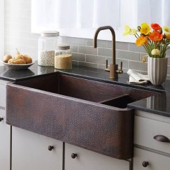 Top farmhouse sink designs for your lovable kitchen 37