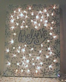Beautiful diy christmas light decoration ideas 27