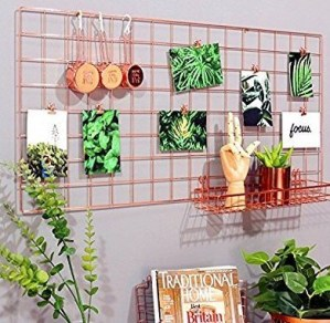 Best diy decor ideas for your home using wire wall grid 04