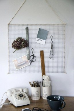 Best diy decor ideas for your home using wire wall grid 11