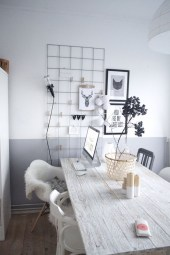 Best diy decor ideas for your home using wire wall grid 17
