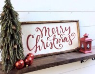 Creative diy rustic christmas decorations with wood 10