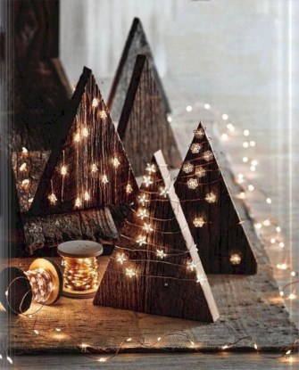 Creative diy rustic christmas decorations with wood 44