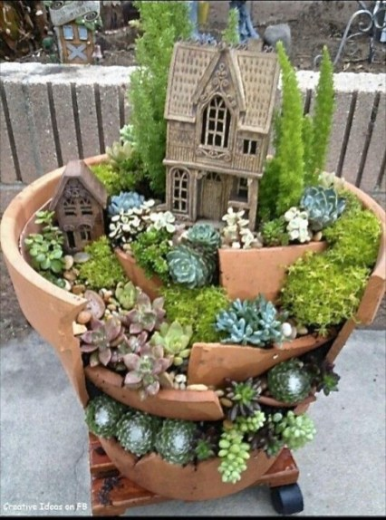 Creative diy fairy garden ideas to try 14