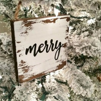 Creative diy farmhouse ornaments for christmas 19