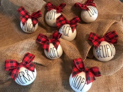 Creative diy farmhouse ornaments for christmas 36