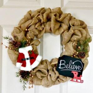 Diy christmas wreath ideas to decorate your holiday season 27