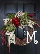 Diy christmas wreath ideas to decorate your holiday season 45