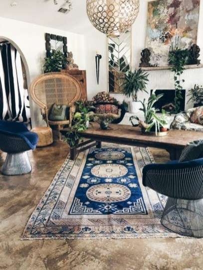 Enthralling bohemian style home decor ideas to inspire you 41